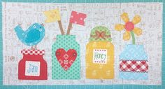 It's week three already. If you are just joining us. you can view all past Bee Happy block tu. Scrap Quilt Patterns, Applique Patterns, Applique Ideas, Quilting Ideas, Quilting Projects, Sewing Patterns, Antique Quilts, Vintage Quilts, Farm Animal Quilt