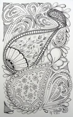 Zentangle- creative group therapy.