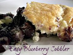 blueberry cobbler, easy dessert, menu planning