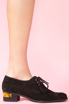 Today's So Shoe Me is the Esi Oxford by Miista, $175, available at Nasty Gal. Something stylish is brewing over at Miista. Their newest collection, Electric Witches, offers dark and edgy elements with a subtle shock of modern brights making it one of the most coveted shoe collections for fall.