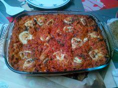 Recept: Lasagne met kippen gehakt, spinazie en ricotta - http://www.volrecepten.be/r/recept-lasagne-met-kippen-gehakt--spinazie-en-ricotta-6253891.html