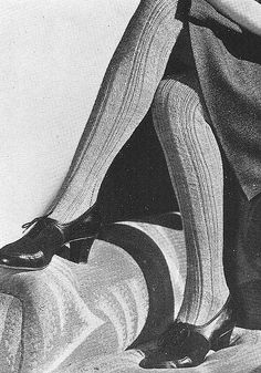 Love the knit stockings. I remember my Great Grandma wearing shoes like these.
