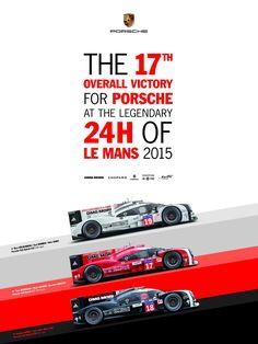 Porsche Poster for the 2015 Le Mans 24