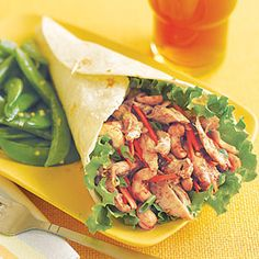 Hoisin Chicken Wraps Recipe using leftover chicken Asian Chicken Wraps, Chicken Wrap Recipes, Leftover Chicken Recipes, Leftovers Recipes, Chicken Meals, Recipe Chicken, Asian Recipes, Healthy Recipes, Delicious Recipes