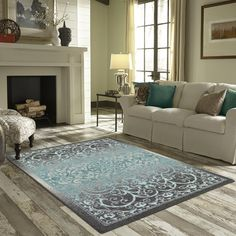 You'll love the Hudson Gray/Blue Area Rug at Wayfair - Great Deals on all Rugs products with Free Shipping on most stuff, even the big stuff.