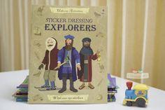 Sách Usborne Sticker Dressing Explorers