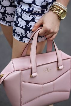 I love everything in this picture especially those shorts!! Kate Spade Beau Bag