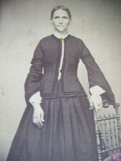 CDV Early 1860s Slender Woman in A Crinoline Jos Alfter Philadelphia | eBay