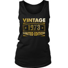 Women's Vintage 1973 45 Year Old Birthday Gift Tank Top