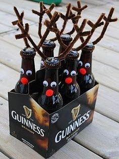 reindeer beer bottles for Xmas eve box                                                                                                                                                                                 More