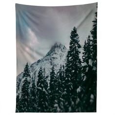 Leah Flores North Cascade Winter Tapestry | DENY Designs Home Accessories