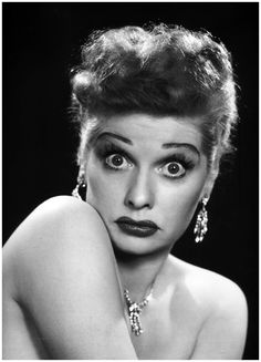 American actress Lucille Ball. Photographed by Philippe Halsman, 1950. S)