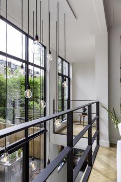 Foyer Design, Railing Design, Staircase Design, House Design, Loft House, House Stairs, Interior Design Advice, Interior Design Inspiration, Foyer Decorating