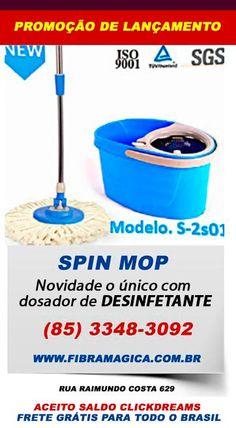 Spin Mop Novidade o único com dosador de desintante (85) 3348-3092 Rua Raimundo Costa 629 Centro