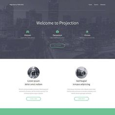 A simple, minimalistic landing page ideal for businesses doing business-like things.