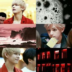 Blonde red/black v bts aesthetic
