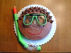 Swimming themed party cake