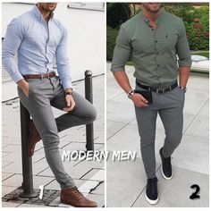 """2,502 Likes, 42 Comments - Modern Men Casual Style (@modernmencasualstyle) on Instagram: """"1 or 2? #modernmencasualstyle"""""""