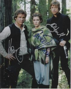Star Wars Cast (Return of the Jedi) Signed 8x10 Autograph Photo - Harrison Ford, Mark Hamill and Carrie Fisher $299 on GoAntiques (I WANT THIS!! OMG!!)