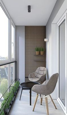 Inspiring Minimalist Home Balcony Design Ideas have an important role in your home because it is located in front of the house. Although only as an additional function, the balcony design must stil… Apartment Balcony Decorating, One Bedroom Apartment, Apartment Interior Design, Room Interior, Interior Design Living Room, Interior Balcony, Interior Stylist, House Balcony Design, Small Balcony Design