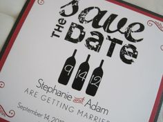 Vintage save the date - distressed font