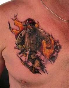Tattoos  Stefano  Page 4  Firefighter chest tattoo