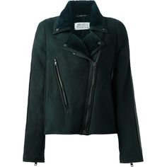 Maison Margiela Sports Jacket (€1.675) ❤ liked on Polyvore featuring outerwear, jackets, green, green jacket, maison margiela, sport jacket, sports jacket and collar jacket