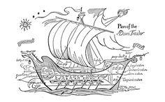 Pauline Baynes' Dawn Treader illustration