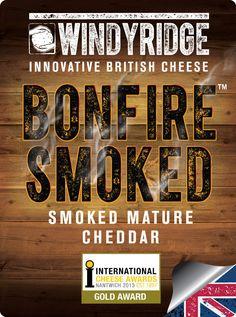 Bonfire™ Smoked Cheese Portion Label  by WIndyridge Cheese Ltd