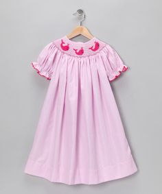 Hot Pink Stripe Bishop Dress - Infant, Toddler & Girls by Classically Styled: Dresses & Sets on #zulily !