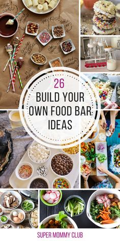 So many great food station ideas here so my guests can build their own food at the party!
