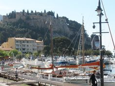 Harbor and castle in Cassis, France
