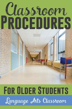 Classroom procedures lead to better classroom management - even with older students. 5th Grade Classroom, Middle School Classroom, English Classroom, Classroom Setting, Future Classroom, Middle School Ela, Classroom Setup, Middle School Procedures, Middle School Incentives