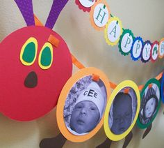 Very Hungry Caterpillar with baby pictures. So sweet.