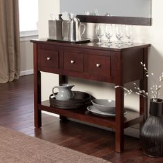 Have to have it. Palazzo Contemporary Sideboard - Espresso - $229.98 @hayneedle.com