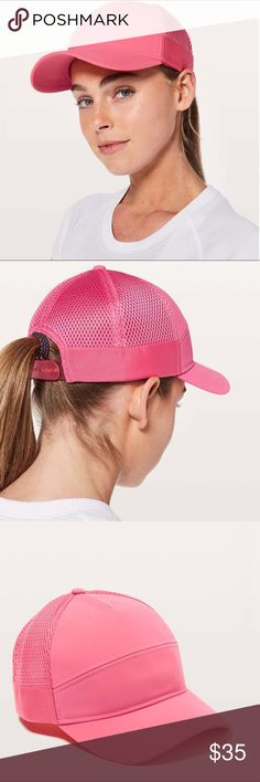 262e6a262 NWT lululemon Dash and Splash Cap Pink Brand new with tags lululemon hat  Dash and Splash Cap II Pink lululemon athletica Accessories Hats