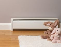 SoftHEAT: Baseboard heat for Jeri's study, Tony's study, and library for rooms that get cold.