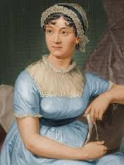 Portrait of Jane Austen - beautiful color on the gown.