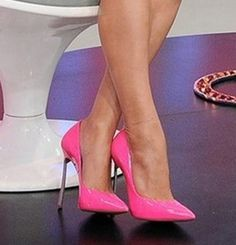 Classic Design Metal High Heel Pumps in Pink from Zmart High Heel Pumps, Pumps Heels, Stiletto Heels, Stilettos, Purple High Heels, Pink Heels, Vivi Fashion, Fashion Shoes, Womens Fashion