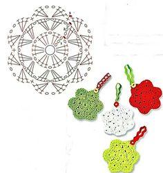 Crochet Christmas Ornament - Chart ❥ 4U hilariafina http://www.pinterest.com/hilariafina/