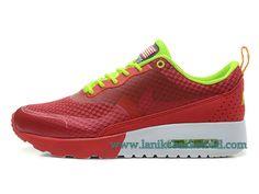 sports shoes b4bca a354a Nike Air Max Thea Print Chaussures De Course Pour Femme Fille Rouge Vert  627269-