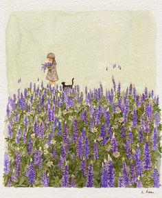 오늘은.... 들판을 다니며 좋아하는 꽃을 한아름 꺾어 사랑하는 엄마의 작은 책상 위에 놓아둘거에요.....