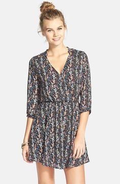 Lush 'Kendal' Surplice Faux Wrap Dress (Juniors) available at #Nordstrom