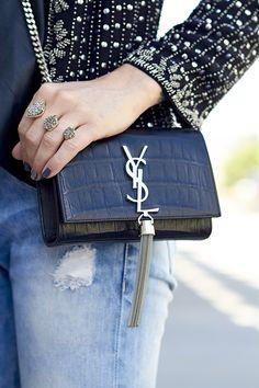 YSL assandre Small shoulder bag with tassel 5efee2d2f669f