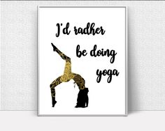 Wall Decor Pose Printable Yoga Prints Pose Sign Yoga  Printable Art Pose motivational quote yoga poster yoga wall decor black gold - Digital Download #homedecorations #wallprints #giftforhim #giftforher