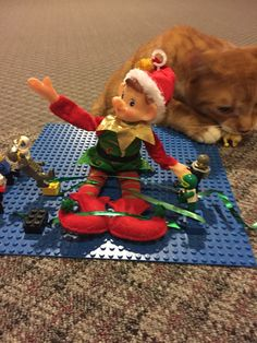 But our heroes prevail! Elf On The Shelf, Holiday Decor, Home Decor, Decoration Home, Room Decor, Home Interior Design, Home Decoration, Interior Design