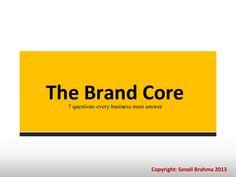 jan-29-brand-core by Sonali Karande Brahma via Slideshare