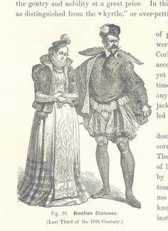 Venezianische Kostüme aus dem späten 16. Jahrhundert