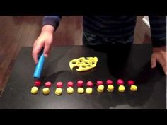 Learning to count numbers 1 to 20. Cute Toddler creates twenty circle's out of play-dough & counts them after displaying them.  The following activity will help toddlers, preschoolers & kindergarten children visualize while counting & help improve fine motor skills.  Let your children choose what they would like to create, but let them know how many. This will increase engagement and help nurture decision making skills.