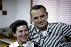 Ray and Charles Eames (playing around with rubber stamps)